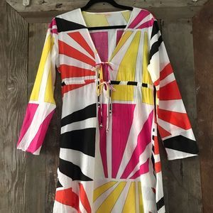 Echo Bathing Suit Cover-Up Multi Color Size Small